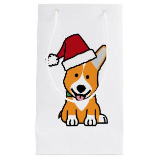 Sacola Para Presentes Pequena Chapéu do papai noel do Natal de Galês do Pembroke
