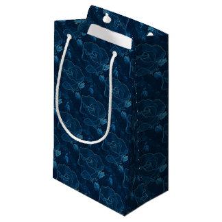 Sacola Para Presentes Pequena contorno do rosa do azul