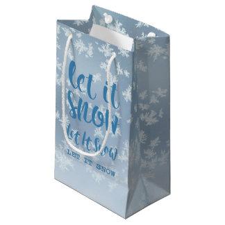 Sacola Para Presentes Pequena Deixais lhe para nevar, deixe-o nevar, deixe-o