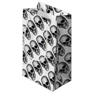 Sacola Para Presentes Pequena Desenho do estilo do vintage do crânio
