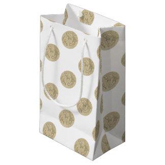 Sacola Para Presentes Pequena Desenho oval de amasso da massa de pão do padeiro