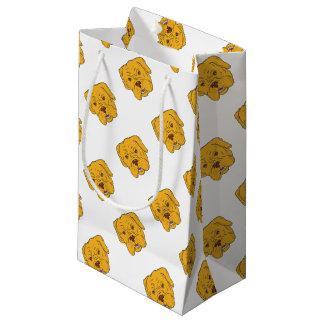 Sacola Para Presentes Pequena Desenhos animados da cabeça de cão do Bordéus