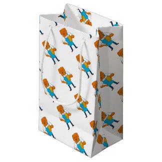 Sacola Para Presentes Pequena Desenhos animados da mascote da caneca do