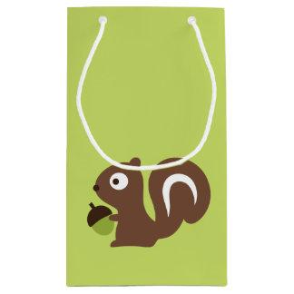 Sacola Para Presentes Pequena Design bonito do esquilo do bebê