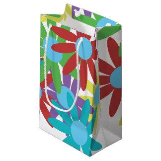 Sacola Para Presentes Pequena Design ilustrado floral colorido