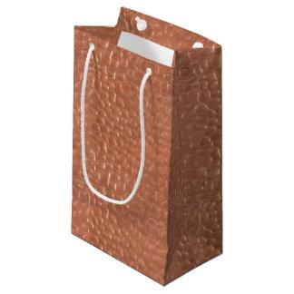 Sacola Para Presentes Pequena Design martelado do cobre-olhar