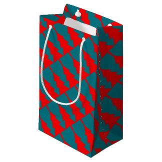 Sacola Para Presentes Pequena Design vermelho da árvore de Natal