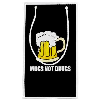 Sacola Para Presentes Pequena Drogas das canecas não