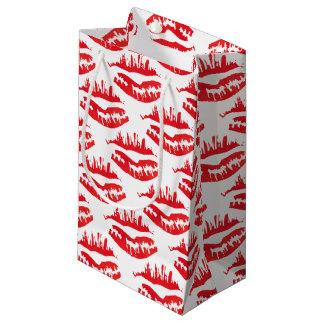 Sacola Para Presentes Pequena Empacotamento encarnado do beijo