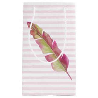 Sacola Para Presentes Pequena Emplume-se, pique-se e esverdeie-se - o saco do
