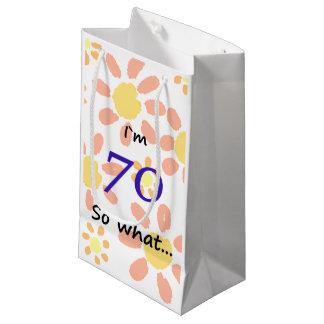 Sacola Para Presentes Pequena ` engraçado m 70 do aniversário I do 70 assim que…