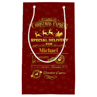 Sacola Para Presentes Pequena Entrega especial do Natal