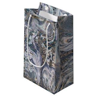 Sacola Para Presentes Pequena Envoltório luxuoso azul do presente do saco do