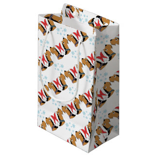 Sacola Para Presentes Pequena Envolvimento do Natal de Airedale Terrier