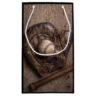 Sacola Para Presentes Pequena Equipamento de basebol do vintage