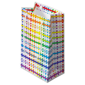 Sacola Para Presentes Pequena Espectro e branco mais largos abstratos do