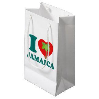 Sacola Para Presentes Pequena Eu amo Jamaica