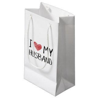 Sacola Para Presentes Pequena Eu amo meu marido
