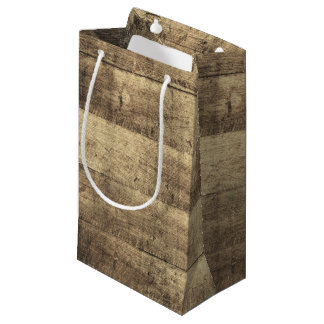 Sacola Para Presentes Pequena Favor de madeira rústico do casamento da fazenda