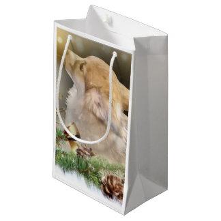 Sacola Para Presentes Pequena Filhote de cachorro do Corgi de Galês do feriado