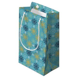 Sacola Para Presentes Pequena Flocos de neve festivos do feriado