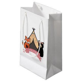 """Sacola Para Presentes Pequena Floresta """"é as bolsas do favor de uma menina"""""""