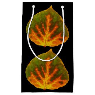 Sacola Para Presentes Pequena Folha alaranjada & amarela verde #1 de Aspen