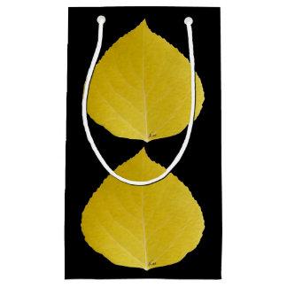 Sacola Para Presentes Pequena Folha amarela #5 de Aspen