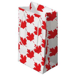 Sacola Para Presentes Pequena Folha de bordo canadense