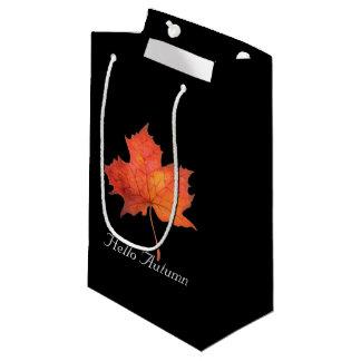 Sacola Para Presentes Pequena Folha de bordo da aguarela
