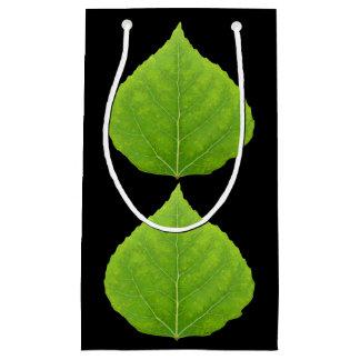 Sacola Para Presentes Pequena Folha verde #11 de Aspen