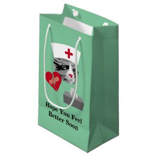 Sacola Para Presentes Pequena Gato da enfermeira da sensação melhor logo