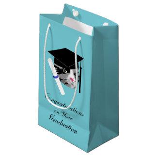 Sacola Para Presentes Pequena Gato da graduação