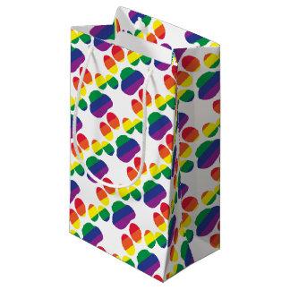 Sacola Para Presentes Pequena Gay-Orgulho-Pata-Impressão