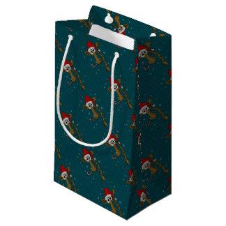 Sacola Para Presentes Pequena Girafa do Natal