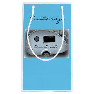 Sacola Para Presentes Pequena Glamping feliz da caravana aciganada da lágrima