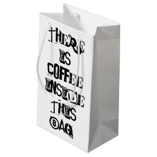 Sacola Para Presentes Pequena Há café neste saco, papel de embrulho GiftBag