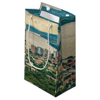 Sacola Para Presentes Pequena Ideia aérea do subúrbio de Guayaquil do plano