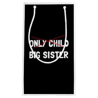 Sacola Para Presentes Pequena Irmã mais velha do filho único