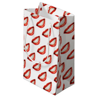 Sacola Para Presentes Pequena Lábios vermelhos