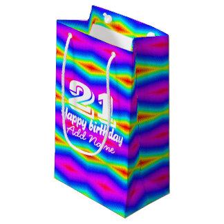 Sacola Para Presentes Pequena Laço-tintura do arco-íris
