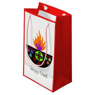 Sacola Para Presentes Pequena Lâmpada colorida Diya de Diwali