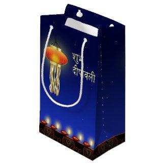 Sacola Para Presentes Pequena Lâmpada luminosa de Diwali - saco pequeno do