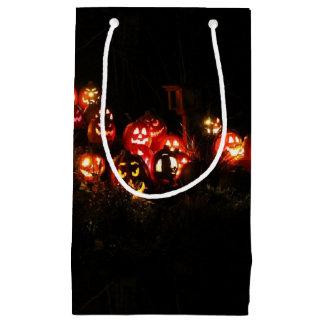 Sacola Para Presentes Pequena Lanterna do Dia das Bruxas Jack O que recolhe o