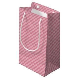 Sacola Para Presentes Pequena Listras cor-de-rosa da pétala
