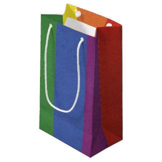 Sacola Para Presentes Pequena Listras do arco-íris