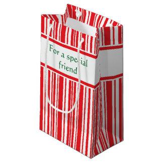 Sacola Para Presentes Pequena Listras do bastão de doces