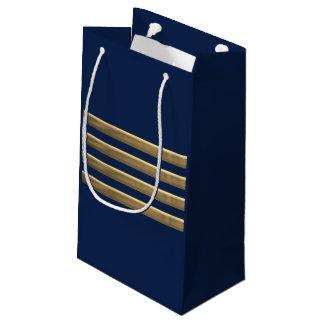 Sacola Para Presentes Pequena Listras do ouro do capitão