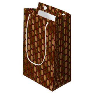 Sacola Para Presentes Pequena Listras e diamantes elegantes em cores da queda