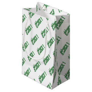 Sacola Para Presentes Pequena Logotipo verde do felz pascoa